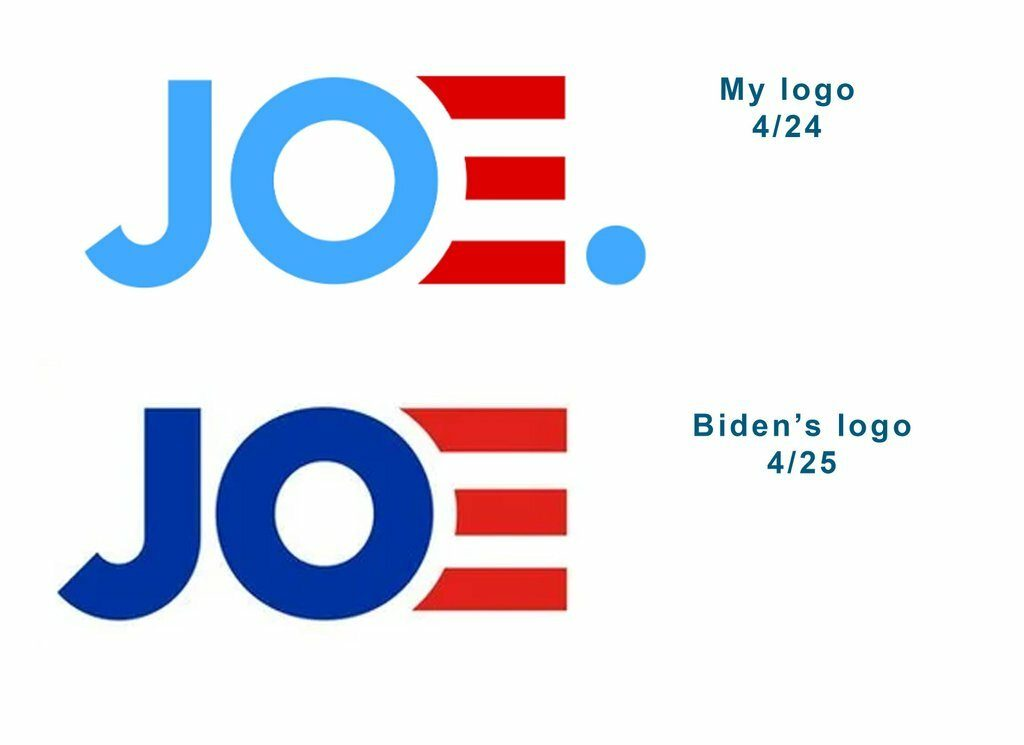 Did Joe Biden steal his new logo from a Redditor