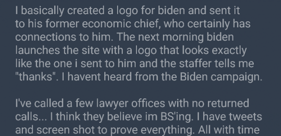 Did Joe Biden steal his new logo from a Redditor?