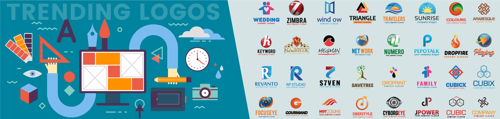 5 Famous Brands With Colorful Logos